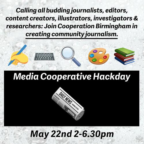 media coop 22nd may hackday